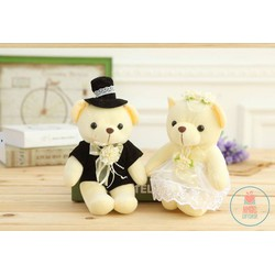 Gấu bông cặp teddy cô dâu chú rể 20CM