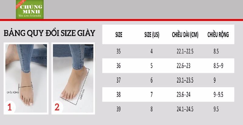 Giày búp bê mũi nhọn khoá C |Giày búp bế nữ 6