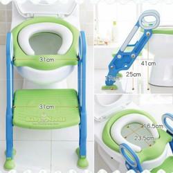 Thang tập đi vệ sinh - Nắp bồn cầu có thang cho bé đi toilet