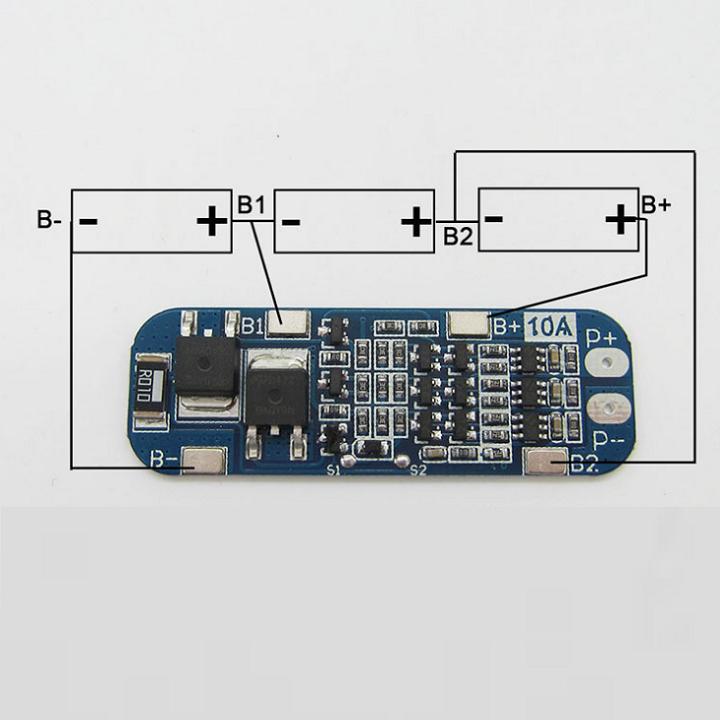 Mạch bảo vệ sạc pin 3 cell 18650- 12.6V - 10A 3