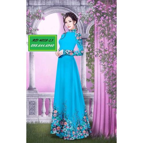 Vải áo dài hoa Ngọc Mỹ - 4028