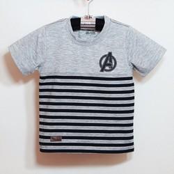 Áo thun sọc chữ A đơn giản cho bé trai