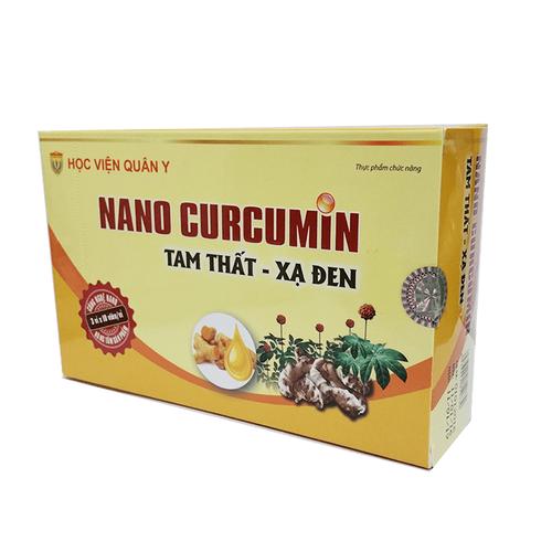 Nano curcumin tam thất xạ đen điều trị dạ dày, tá tràng, ung thư