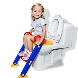 Nắp bồn cầu có  thang cho bé - Thang ghế tập đi bồn cầu