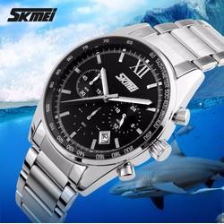 Đồng hồ nam giá rẻ - Skmei dây kim loại chính hãng
