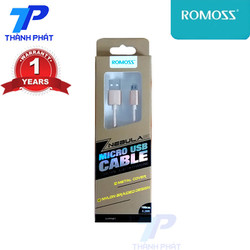 Cáp Sạc Romoss Micro Usb dây dù - Hồng