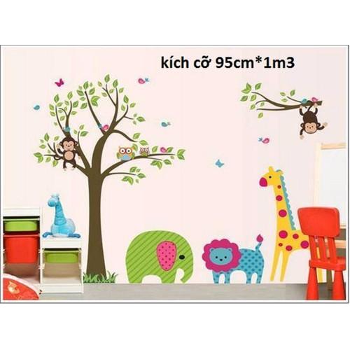 decal dán tường vườn thú cho bé - 4339713 , 5979903 , 15_5979903 , 55000 , decal-dan-tuong-vuon-thu-cho-be-15_5979903 , sendo.vn , decal dán tường vườn thú cho bé