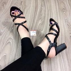 giày sandal rọ đinh gót vuông hàng VNXK-pll1638