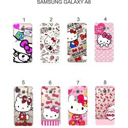 Ốp lưng Samsung Galaxy A8 dẻo in hình Kitty