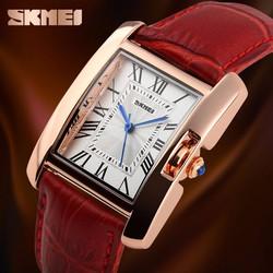 Đồng hồ nữ giá rẻ - Skmei dây da chính hãng