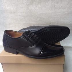 Giày tây nam phong cách q.uân_đ.ội mũi bóng giả cột dây