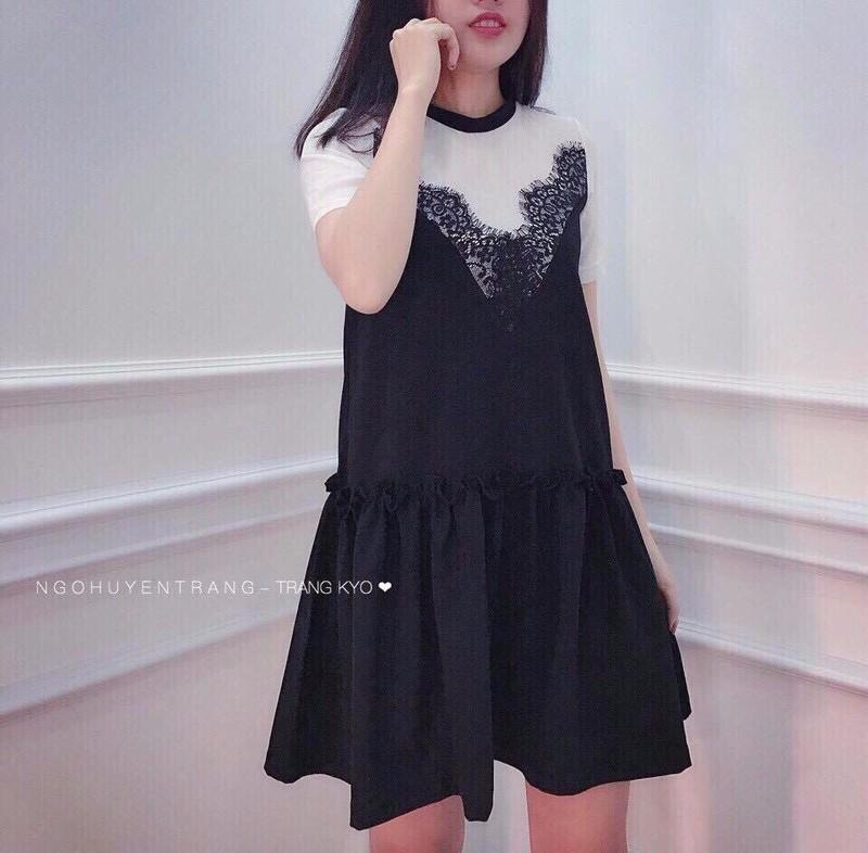 Đầm suông nối tầng 2
