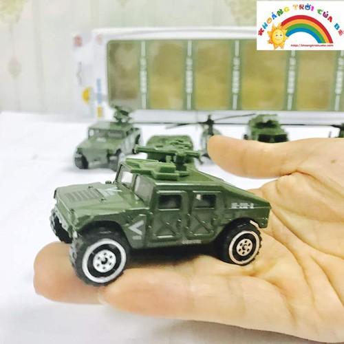 Vỉ 6 ô tô quân sự đồ chơi mô hình kt02