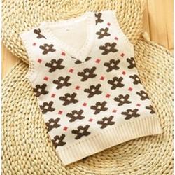 Áo gile len cho bé trai 4 đến 8 tuổi
