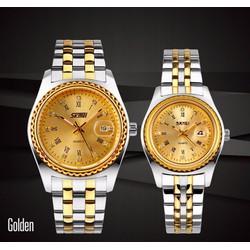 Đồng hồ đôi giá rẻ - Skmei dây kim loại chính hãng