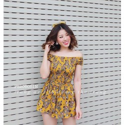 Set áo nhúng hoa trễ vai quần short hàng nhập! MS: S130606 Gs: 150K