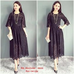 Đầm Ren Xòe Kiểu Dáng Vintage Cao Cấp