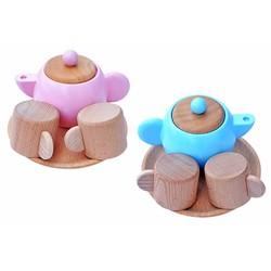 Bộ ấm trà đồ hàng | Đồ chơi bằng gỗ cho bé an toàn