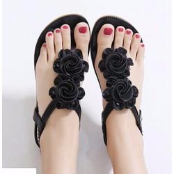 Giày sandal đế bệt nữ phối hoa - LN1265
