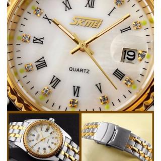 Đồng hồ đôi giá rẻ - Skmei dây kim loại chính hãng - SKD01 4