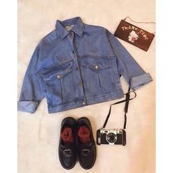 áo khoát jean hai túi