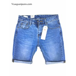 Quần lửng Jean màu xanh đá - VNXK