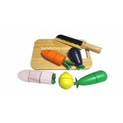 Bộ cắt rau củ | Đồ chơi nấu ăn bằng gỗ cho bé an toàn