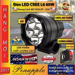 Bóng đèn pha LED CREE CHÍNH HÃNG L6 60W Thiết kế USA-không phụ kiện