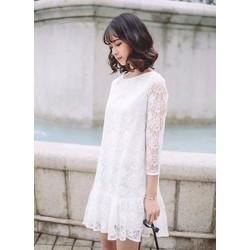 Đầm ren trắng sang trọng