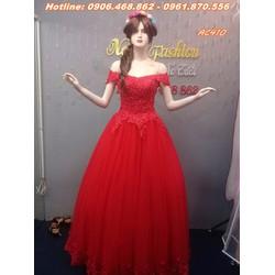 áo cưới màu đỏ AC410