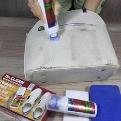 Bộ tẩy sạch vết bẩn trên bề mặt da - Dr Clean sạch túi, giày dép