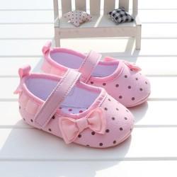giầy vải tập đi bé gái 3 đến 18 tháng