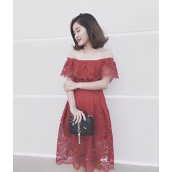 [Sale Khủng]-Đầm Ren Trễ Vai Sang Chảnh