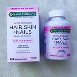 Viên Uống Đẹp Da, Tóc, Móng Nature Bounty Hair, Skin, Nails
