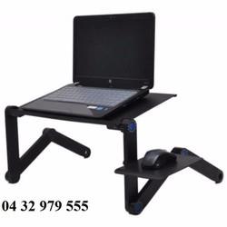 Bàn gấp để laptop tùy chỉnh độ cao xoay 360 độ có quạt tản nhiệt T8