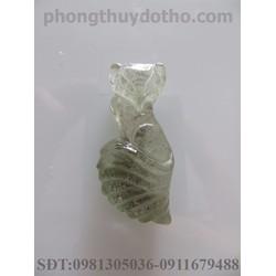 Mặt dây chuyền hồ ly đá ưu linh dài 3.1x1.5 cm
