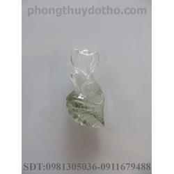 Mặt dây chuyền hồ ly đá ưu linh dài 2x3 cm mẫu 2