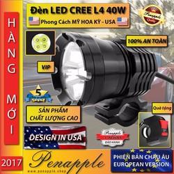 Bóng đèn pha LED CREE CHÍNH HÃNG L4 40WThiết kế USA-Không kèm phụ kiện