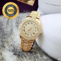 Đồng hồ nữ đẹp giá rẻ mặt đính đá hiển thị lịch ngày
