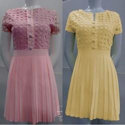 Đầm Ren Lỗ Chân Váy Xếp Ly _GS160 Tặng áo thun thời trang