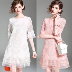 Đầm Suông Thời Trang THƯỢNG CẤP HÀNG NHẬP A22033- CÒN HỒNG
