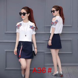 Áo sơ mi và chân váy đẹp - hàng Quảng Châu cao cấp