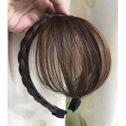 Băng đô bím tóc mái thưa - mái xéo