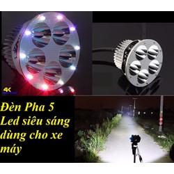 Đèn Pha 6 Led Siêu Sáng Cho Xe Máy