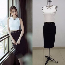 Set rời áo váy Ngọc Trinh thiết kế đơn giản, tuyệt đẹp