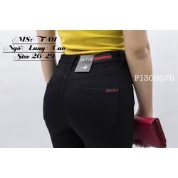 Quần lửng lưng cao kaki jean đen tag  hàng thiết kế- Gs:  75K