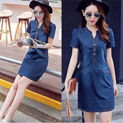 Đầm Jean Suông Tay Ngắn_GS150