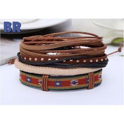 Combo 4 vòng đeo tay handmade thổ cẩm thời trang