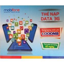Thẻ Nạp Data 3G Mobifone