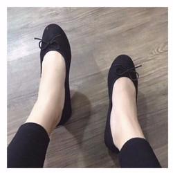 giày búp bê thắt nơ
